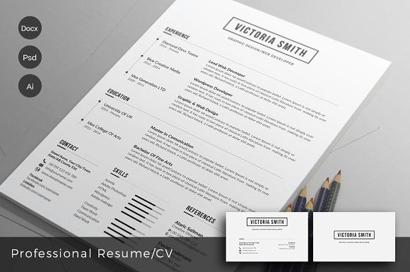 Clean Resume/CV templateto help you land that great job. All artwork and text is fully customisable; Easily edit the typography, wording, colors and layout. Each template uses a strong baseline/document grid which will allow you to edit or add to the layout very easily.