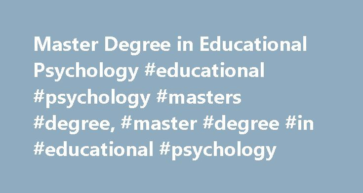 Masters thesis in educational psychology