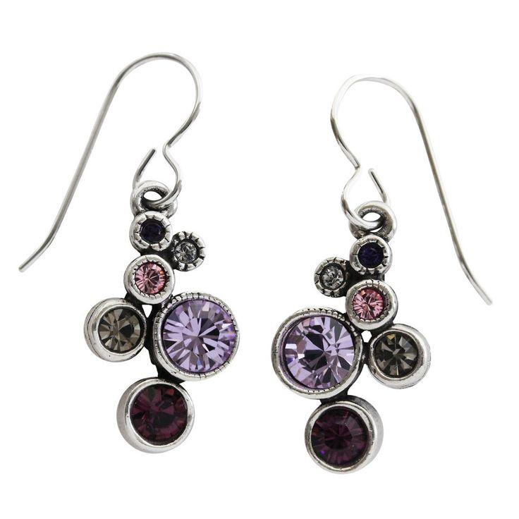 """Patricia Locke """"Splash"""" Sterling Silver Plated Earrings, Purple Rain EF0685S"""