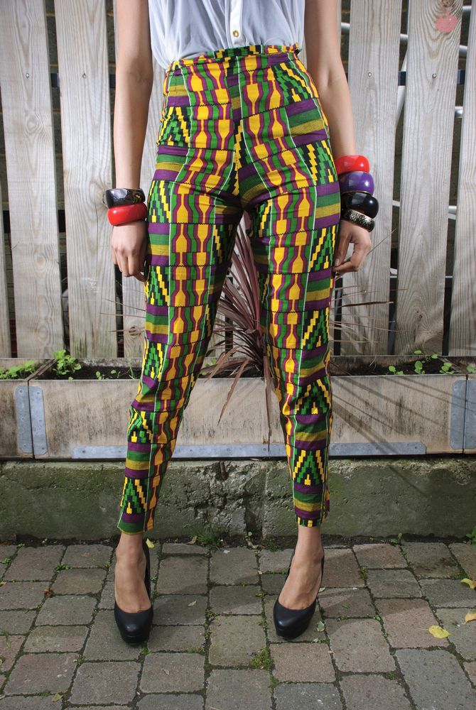 Image of African Print Slim fit Pants - cutest pants ever...