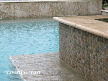 12x24 Ivory Travertine Pool Coping And Tiles Natural