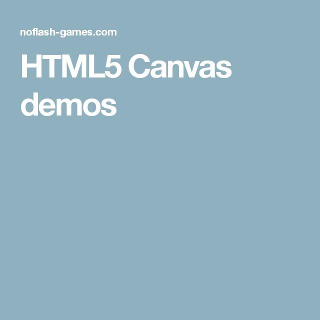 HTML5 Canvas demos