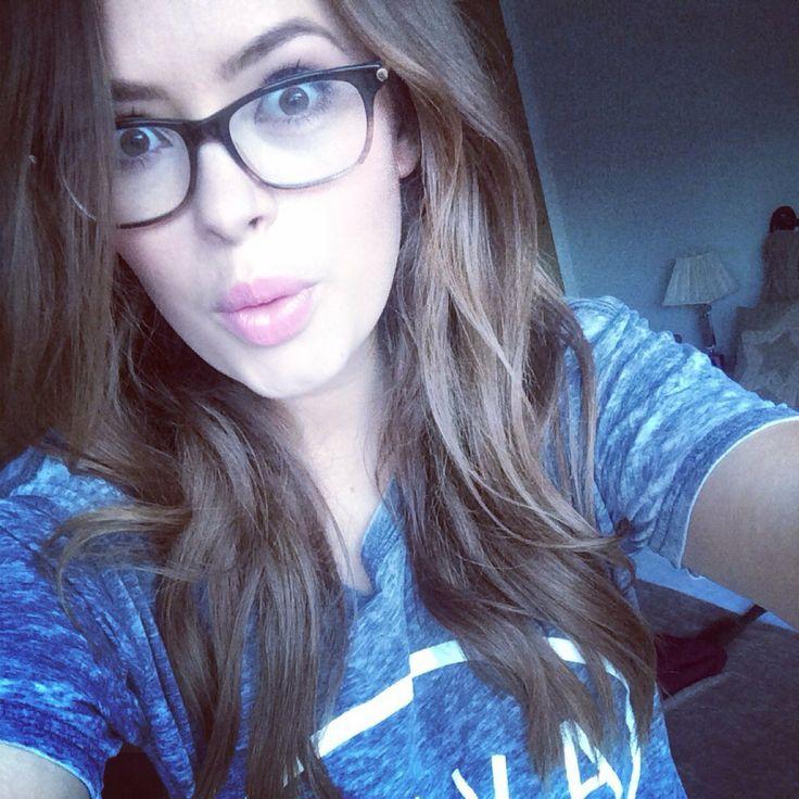 Tanya Burr rocking geek chic glasses