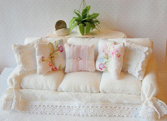 Dollhouse Shabby Romantic Chic White Crinkle by Memoriesnminiature
