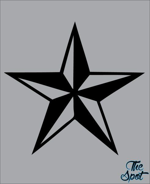 Tattoo style nautical star vinyl decal sticker