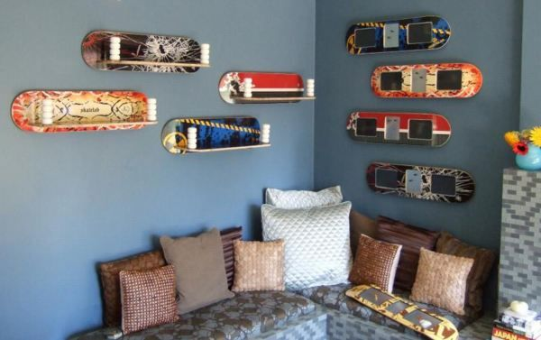 skateboard bedroom skateboard decor skateboard shelves skateboard
