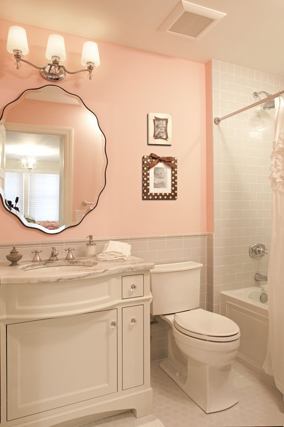 25 best ideas about peach bathroom on pinterest peach for Bathroom designs for girls