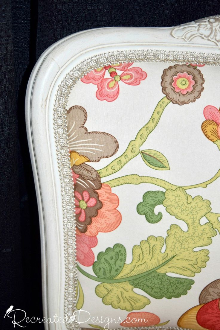 beautiful details on an upholstered chair