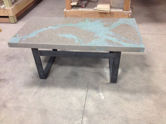 Concrete Coffee Table by UCdesign on Etsy, $495.00