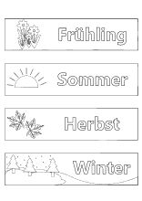 ausmalbilder jahreszeiten - die vier jahreszeiten frühling, sommer, herbst, winter in 2020