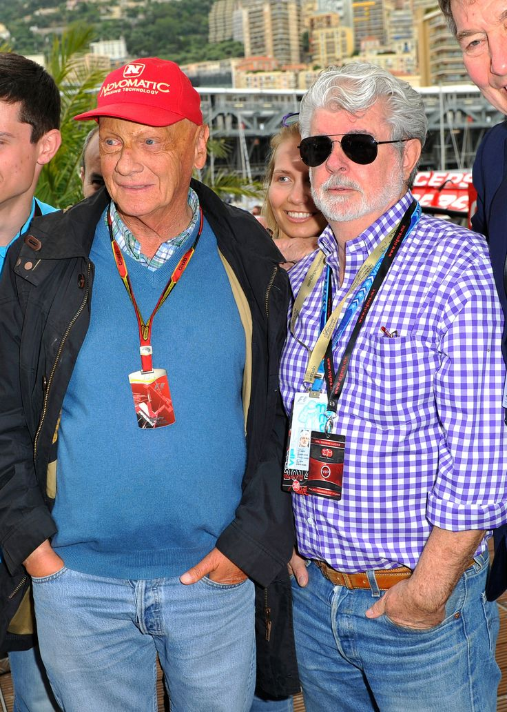 Niki Lauda and George Lucas