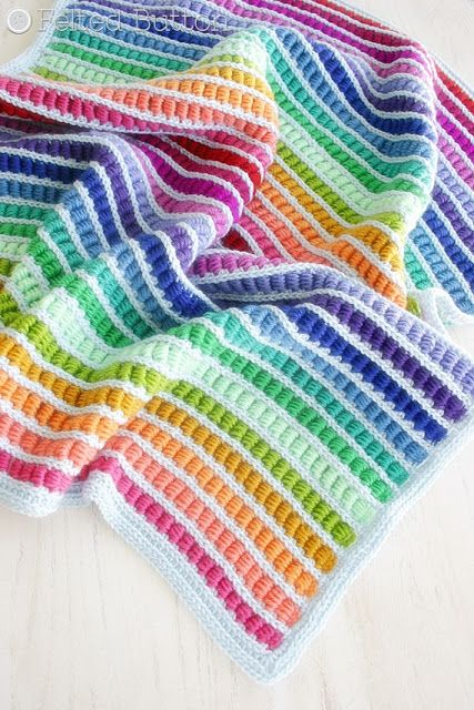 Abacus Blanket crochet pattern by Susan Carlson of Felted Button--Colorful Crochet Patterns