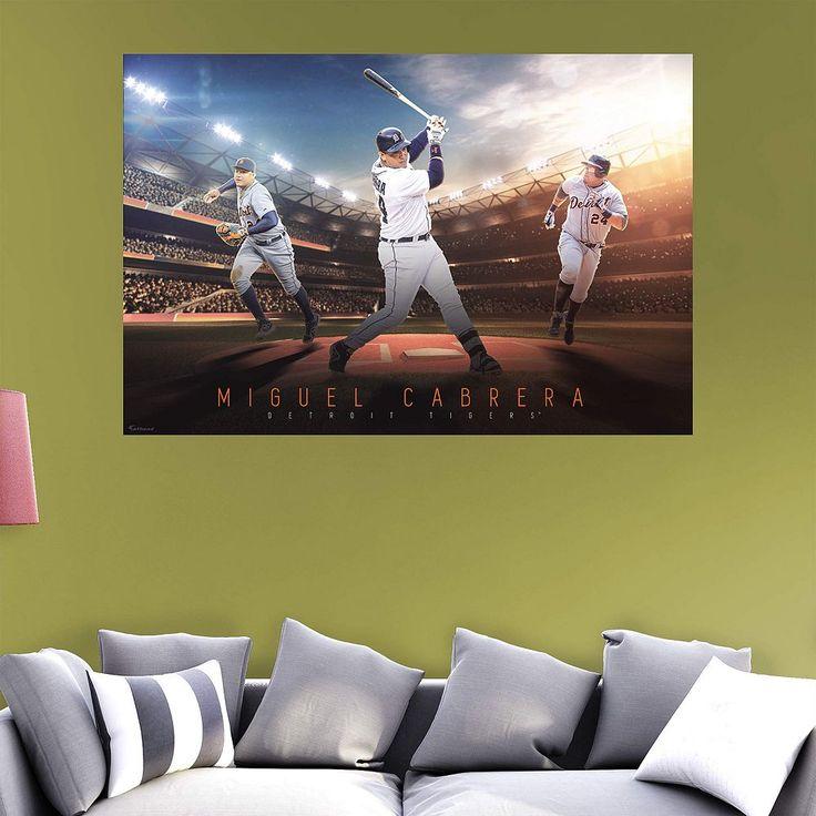 Detroit Tigers Miguel Cabrera Wall Decal by Fathead, Multicolor