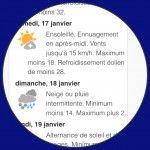 Météo bipolaire…ça ne s'améliore pas! Cette nuit -32, demain -28 et dimanche, 2 sous la pluie! #malade #météo #weather #montreal #quebec