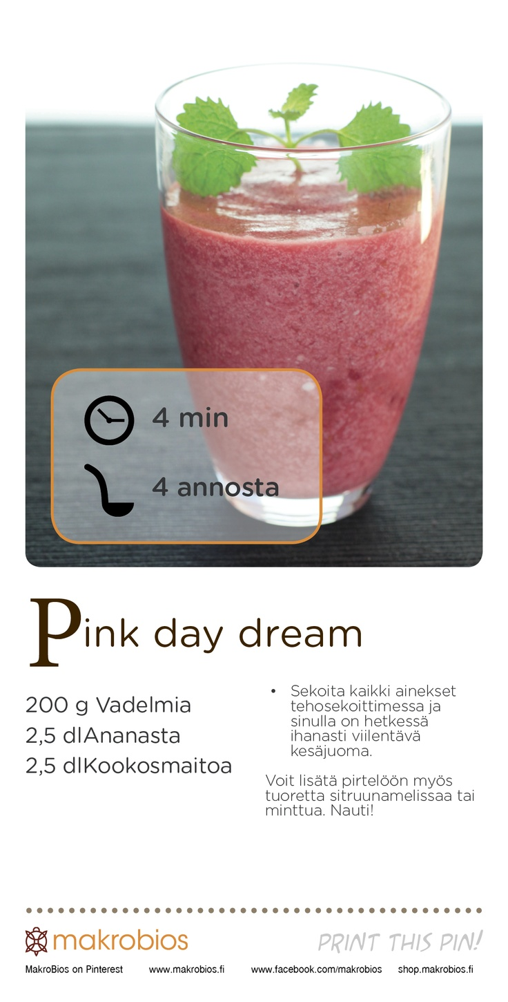 Pink Day Dream #smoothie