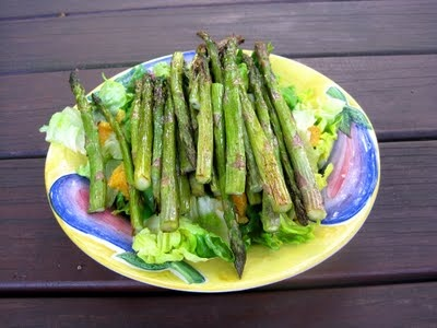 Roasted asparagus and orange salad with ginger citrus vinaigrette