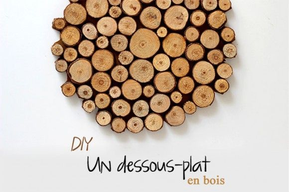 Astuce DIY : le dessous de plat en bois mieux que celui d'Alinéa !