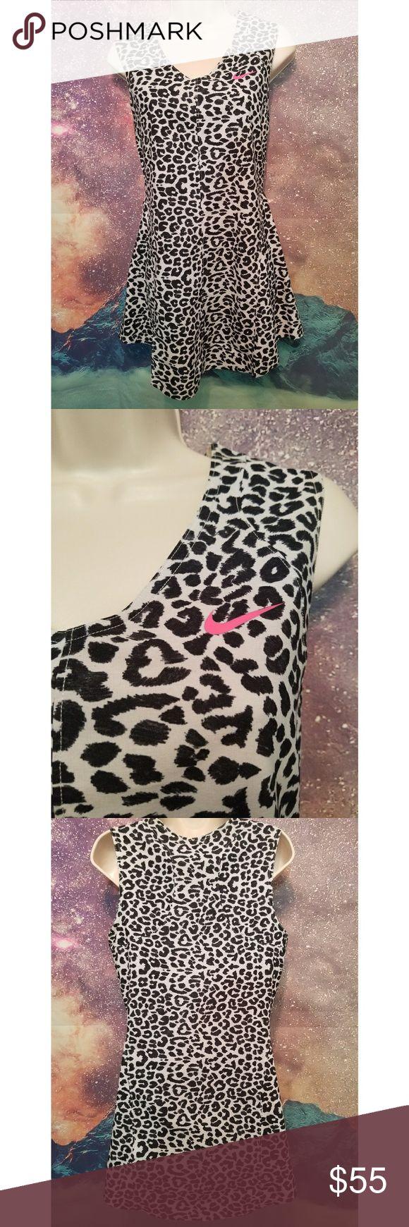 Nike Dri Fit Cheetah Print Tennis Dress Size Large Excellent Condition Nike Dresses