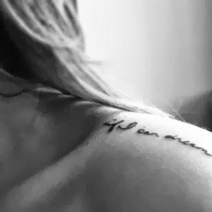 if I can dream, my shoulder tattoo. Elvis Presley lyrics.
