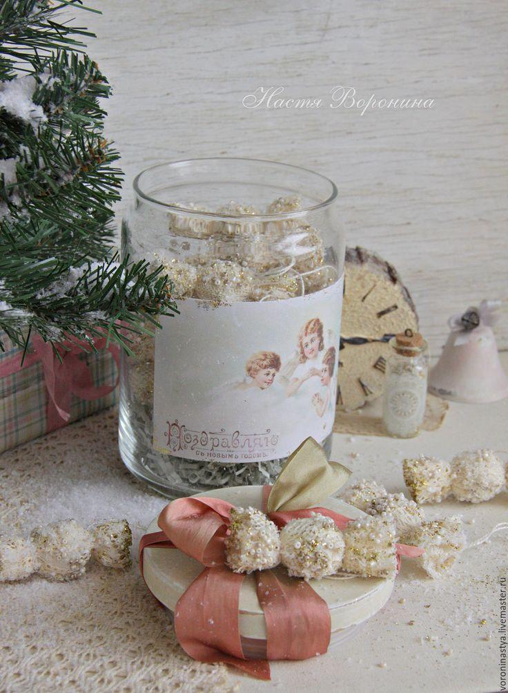 Купить Баночка сахарных конфет - комбинированный, новый год 2017, Новый Год, рождество, подарок на новый год