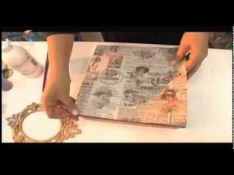 Aprenda a fazer caixas vintage. #vintage #box #diy