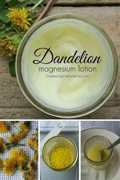 Dandelion Magnesium Lotion for Leg Cramps & Growing Pains: