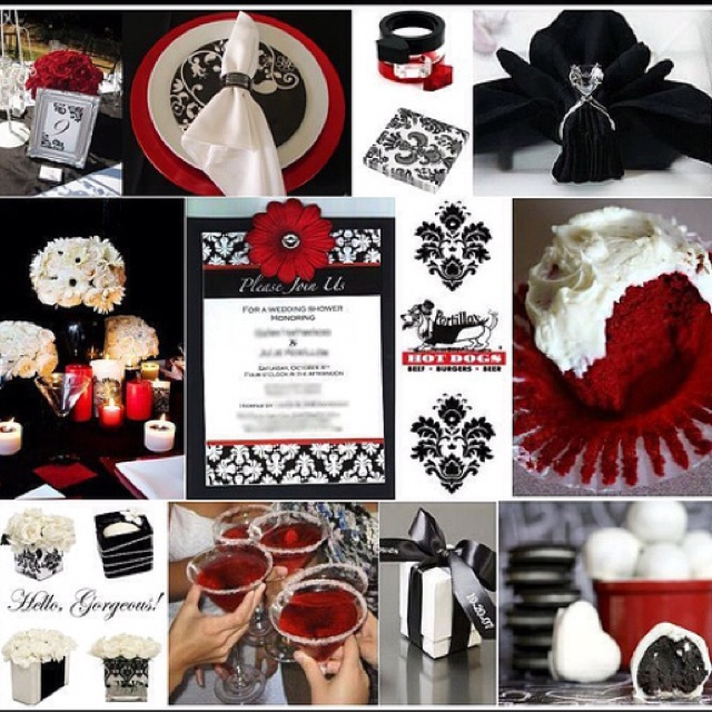 Red Black And White Wedding Reception Ideas. Red Black And White Wedding  Reception Ideas.