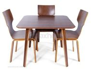 Square walnut dining table replica mid century danish -555