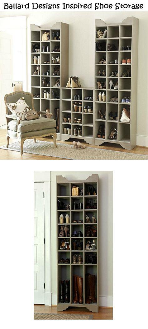 Ballard Designs Inspired Shoe Storage Plans