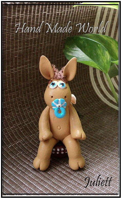 "Фигурка ""Маленький Ослик"" - ослик,осел,фигурка ослика,фигурка осла,статуэтка"
