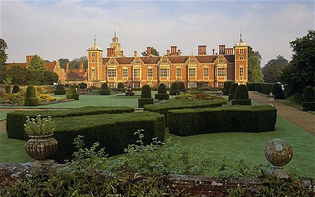 Blickling Hall, Norfolk. The possible birthplace of Anne Boleyn. Blickling Hall houses a statue and a portrait of the future queen, on May 19, the anniversary of her execution, her ghost is said to arrive at the estate carrying her own severed head. There's also one of the country's most valuable collections of books and manuscripts and extensive gardens for visitors to explore.