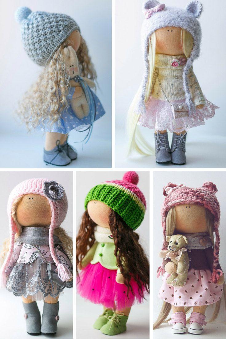 Lovely tilda doll Art doll handmade blonde by AnnKirillartPlace