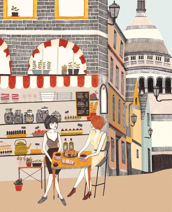 Libelle illustratie Parijs | by Lieke van der Vorst | Liekeland | (coffee and croissants in Paris!)