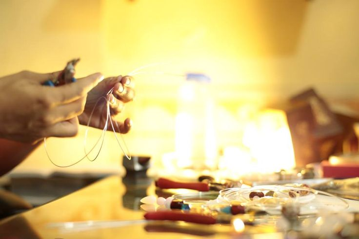 Mythika Handmade Jewelry in the studio - Priya Jhavar