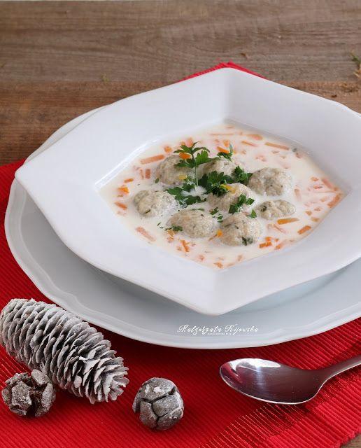 Zabielana zupa rybna z pulpecikami z karpia