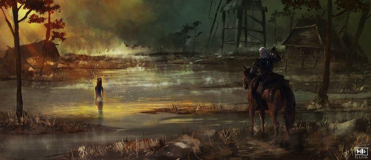 Witcher, Michał Makowski on ArtStation at https://www.artstation.com/artwork/witcher-5836c8e1-85a4-4237-bdbd-175ec2cff304