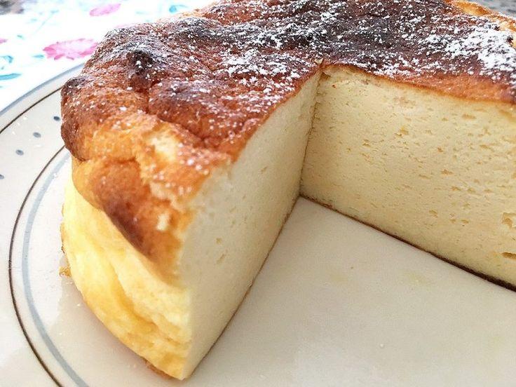 Tarta suave y esponjosa de yogur griego