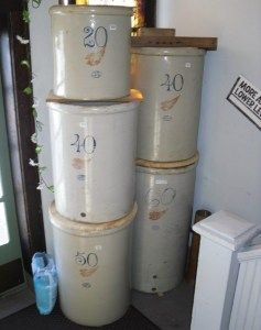 15 Gallon Red Wing Stoneware Ski Oval Crock Near Mint | Prock's Crocks and Antiques