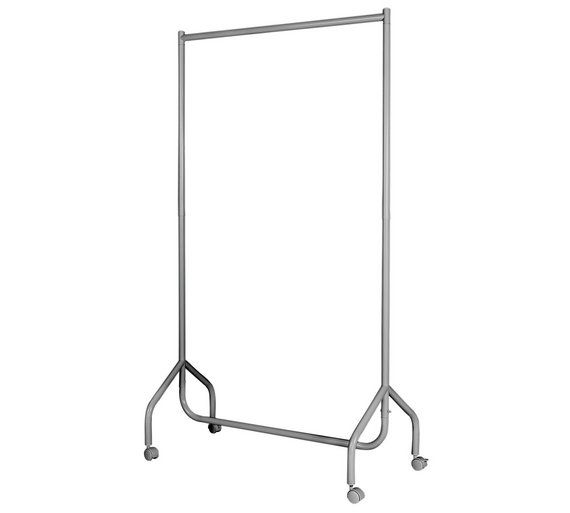 Buy HOME Single Heavy Duty Clothes Rail - White at Argos.co.uk - Your Online Shop for Hanging rails, Bedroom furniture, Home and garden.