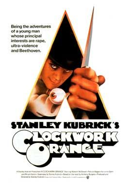 """A Clockwork Orange (1971)  """"In future Britain, charismatic delinquent Alex DeLarge is jailed and volunteers for an experimental aversion therapy developed by the government in an effort to solve society's crime problem... but not all goes to plan"""""""