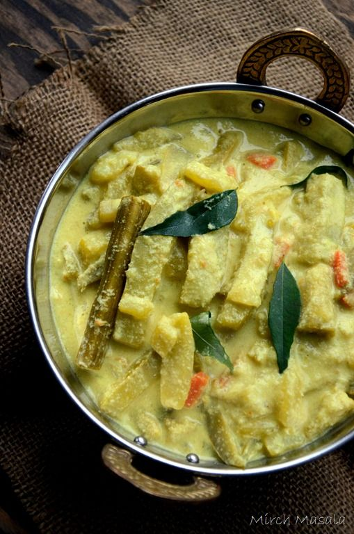 Avial - Kerala Mixed Vegetable Curry with Coconut and Yogurt. Also made with Tamarind instead of yogurt - can be made Vegan. Vegetarian Recipe. Indian Recipe. Kerala Recipe