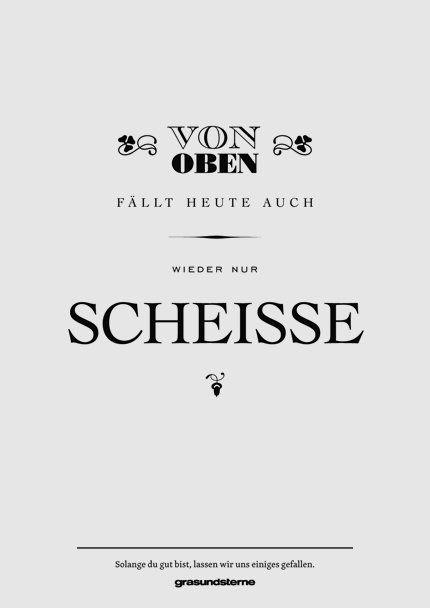 Grasundsterne München, Pöbeln mit Hirn, Poster