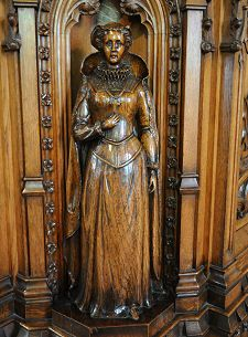 Carving of Mary, Queen of Scots