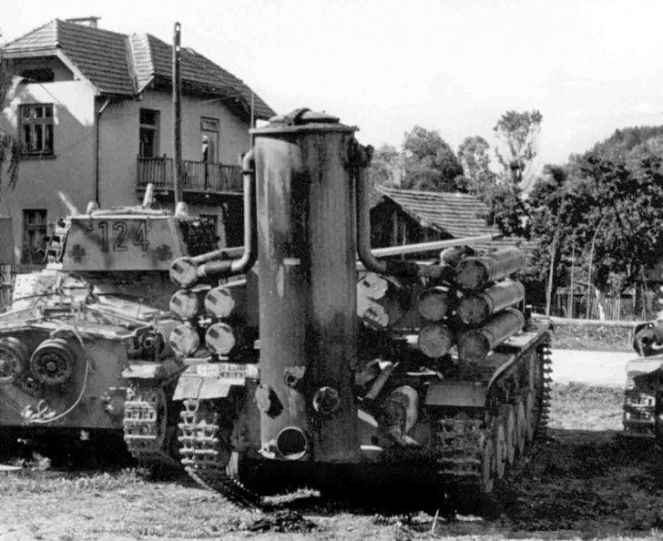 Wooden Gas Tank ~ German training pz kpfw ii light tank with a gasifier