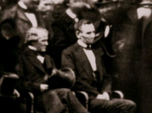 Lincoln and Andrew Johnson from Lincoln's Second Inauguration.