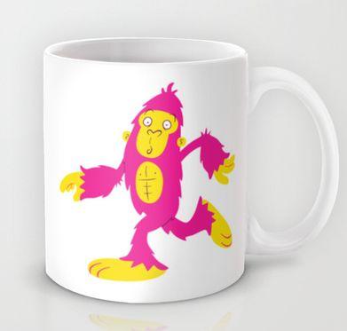 Bigfoot Is Pink mug. Available at http://society6.com/inkrobin/Bigfoot-is-Pink_Mug#27=199
