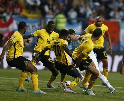 Messi. Argentina-Jamaica, Copa América. 2015.