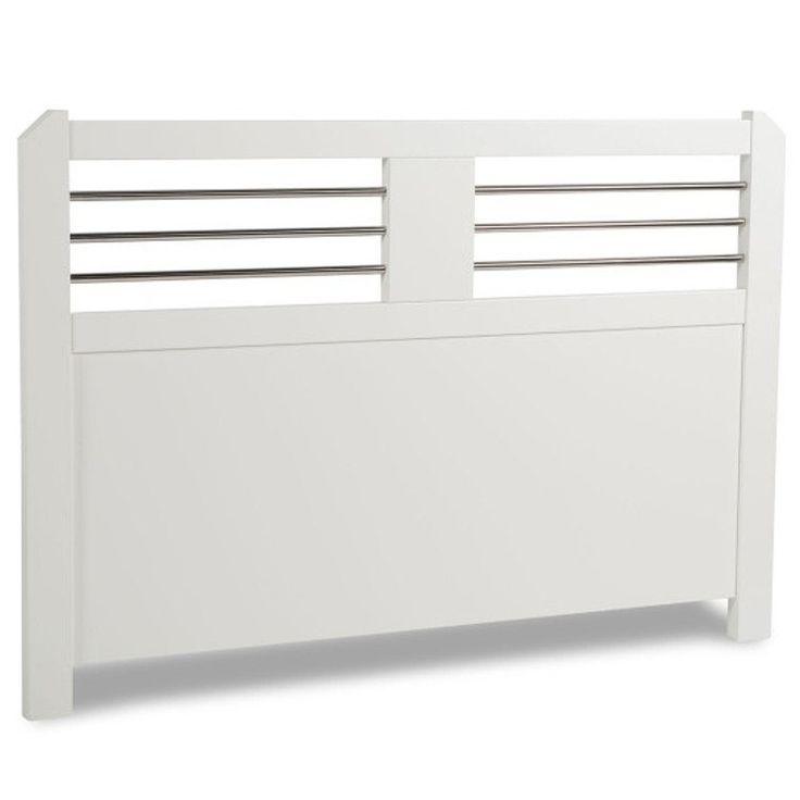 Zebra Collection ~ SILVA sänggavel i vit MDF 160-210 cm