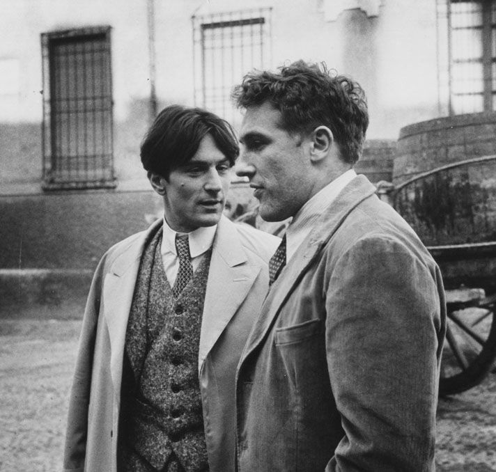 "Robert De Niro and Gerard Depardieu - ""Novecento"", Bertolucci 1978"