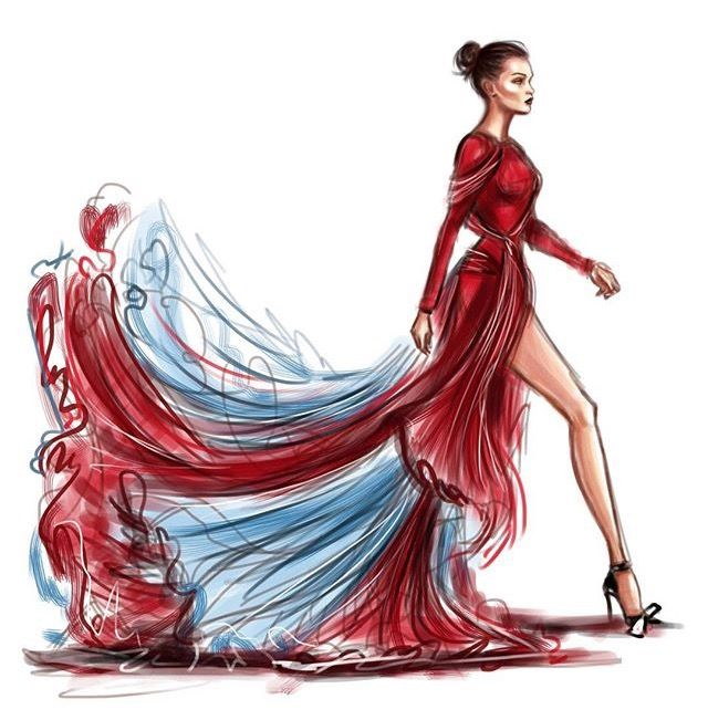 1000 Images About Fashion Illustrations On Pinterest